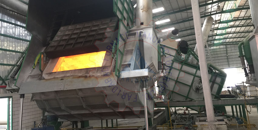 Aluminium Melting Hydraulic Tilting Scaler Furnace Exporters from India