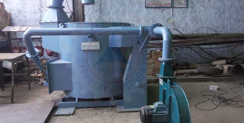 Copper Melting Hydraulic Tilting Crucible Furnace Exporters from India